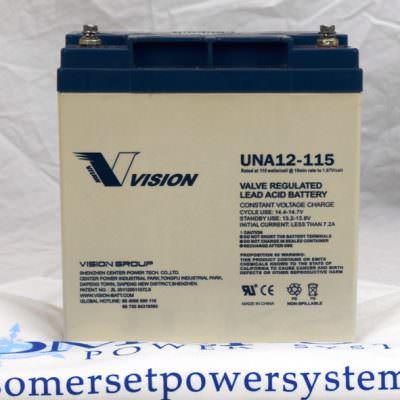 VISION - UNA12-115W 12 volt - 28 amp hr