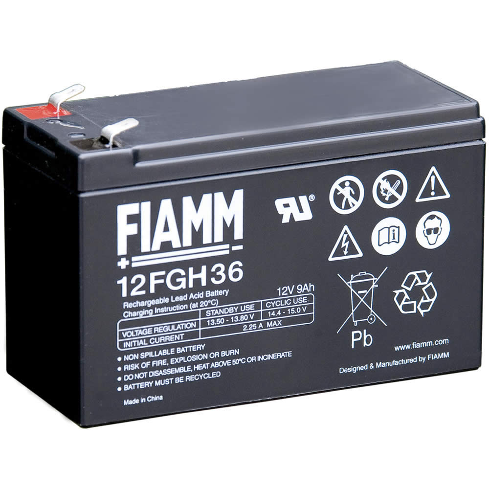 fiamm battery 12volt 9ah 12fgh36 somerset power systems. Black Bedroom Furniture Sets. Home Design Ideas